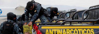 Incautan más de 2 mil 300 paquetes de drogas este fin de semana en Guatemala. Foto Prensa Libre: EFE.