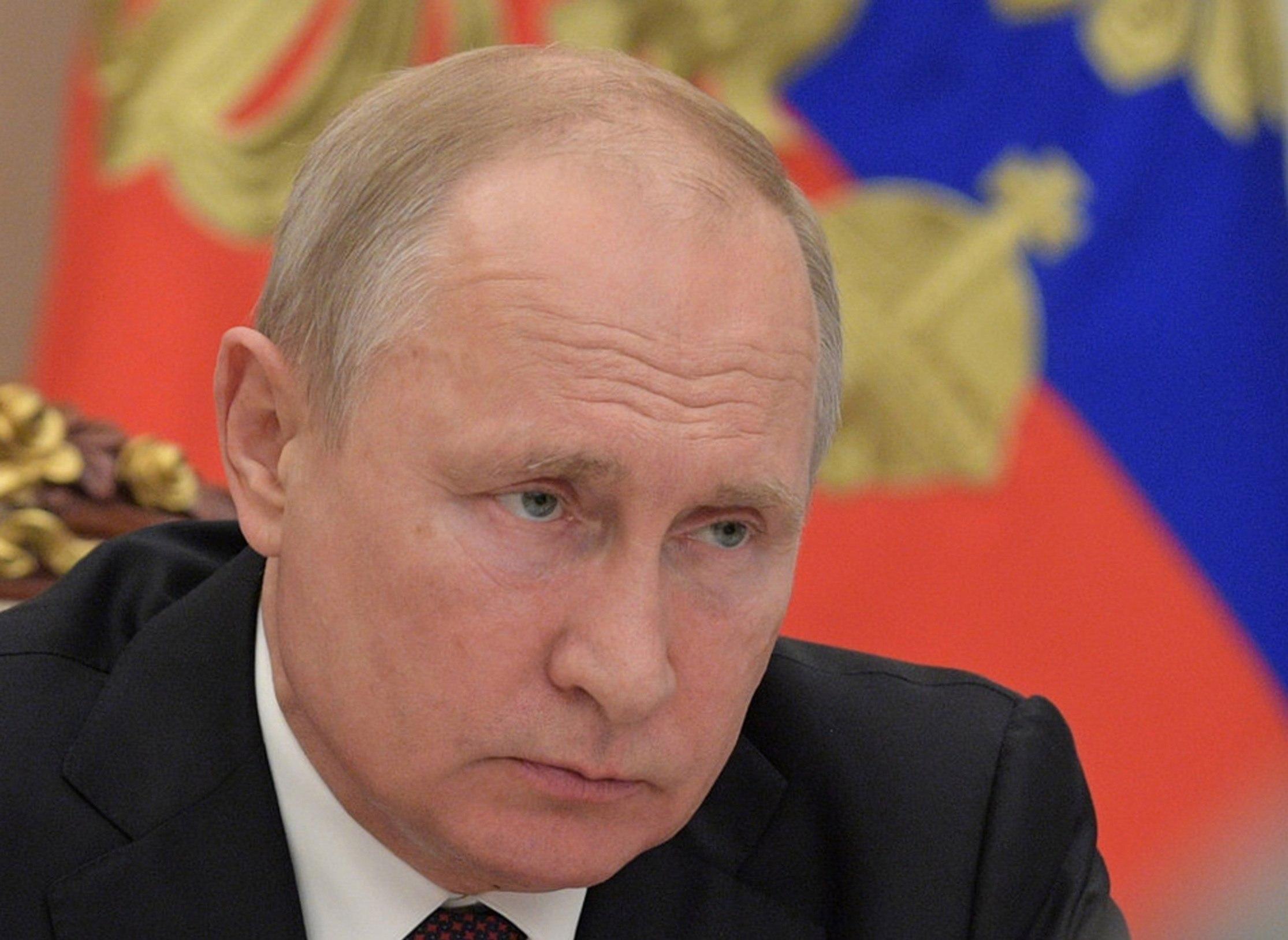 El presidente ruso, Vladímir Putin, en una reunión de su gabinete en Moscú. (Foto Prensa Libre: Hemeroteca PL)