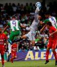 Dos jugadores tuvieron resultado analítico adverso en la final del Clausura 2019 entre Antigua GFC y Malacateco. (Foto Prensa Libre: Hemeroteca PL)