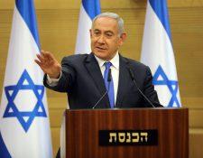 El primer ministro de Israel, Benjamín Netanyahu, en Jerusalén. (Foto Prensa Libre: EFE)