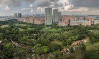 WAL4709. SINGAPUR (SINGAPUR), 27/05/2019.- Vista panorámica del parque Bishan-Ang Mo Kio en Singapur, el 4 de mayo de 2019. Singapur es considerada a menudo como una Ciudad Jardín, con numerosas especies de árboles y flores en toda la isla, parques verdes, reservas y exuberantes exhibiciones de plantas incluso en interiores. EFE/Wallace Woon