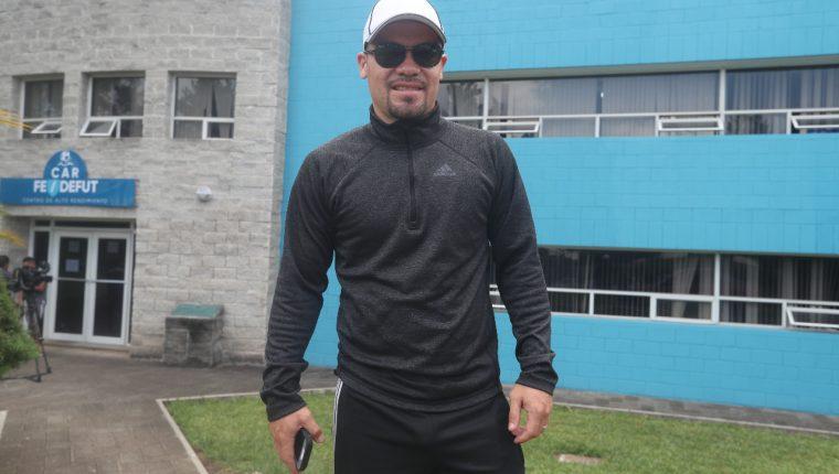 Edward Santeliz se integró a la Selección Nacional en la preparación para el juego contra Paraguay. (Foto Prensa Libre: Edwin Fajardo)