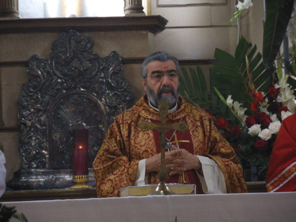 La misa fue oficiada por Monseñor José Cayetano Parra Novo. Foto Prensa Libre: Néstor Galicia