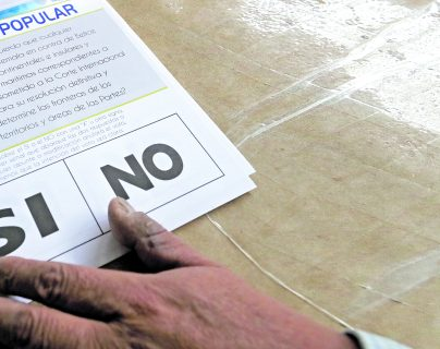 Guatemala celebró su Consulta Popular, en el que predominó el sí. (Foto Prensa Libre: Hemeroteca PL)