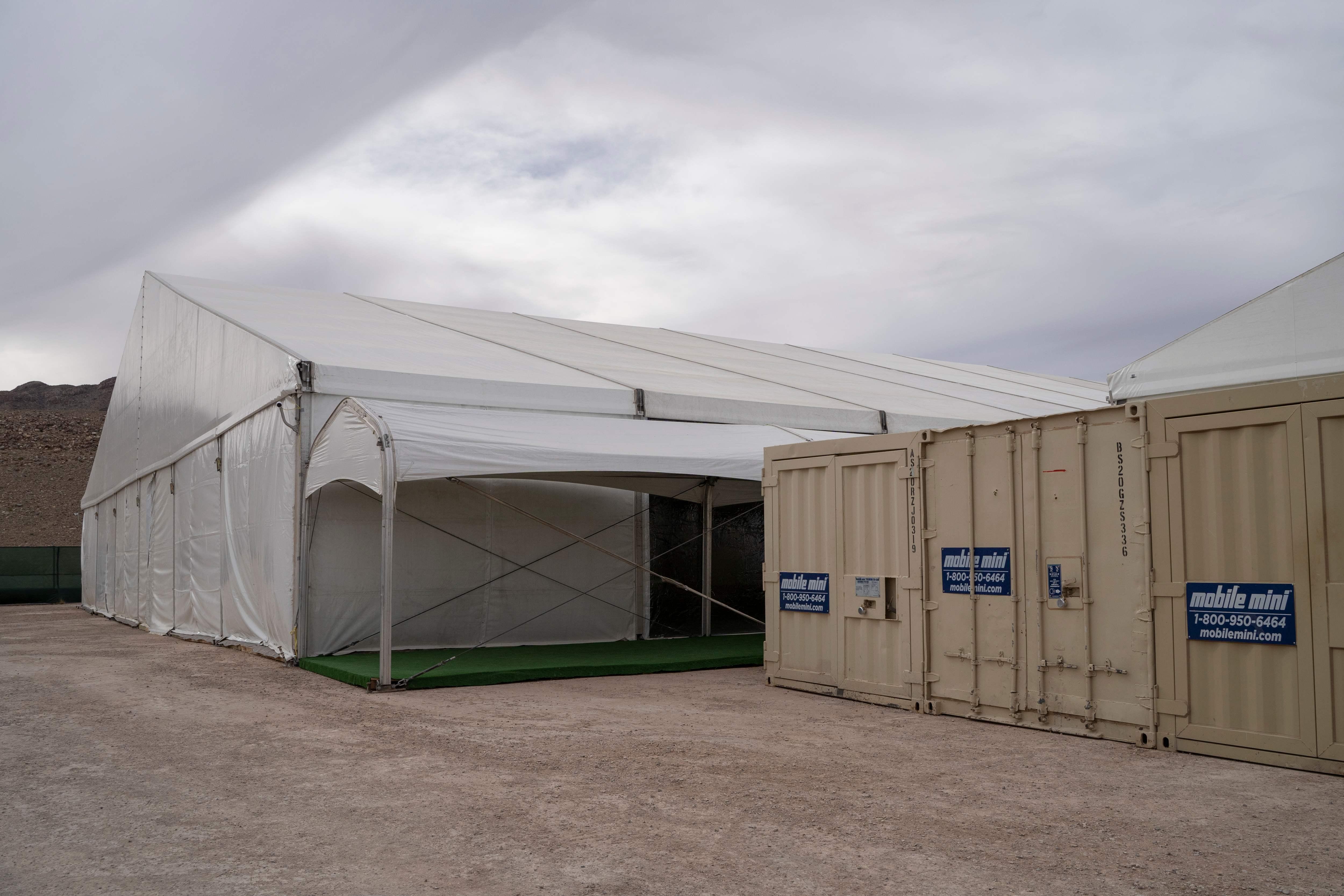 Albergue temporal para migrantes en El Paso, Texas.