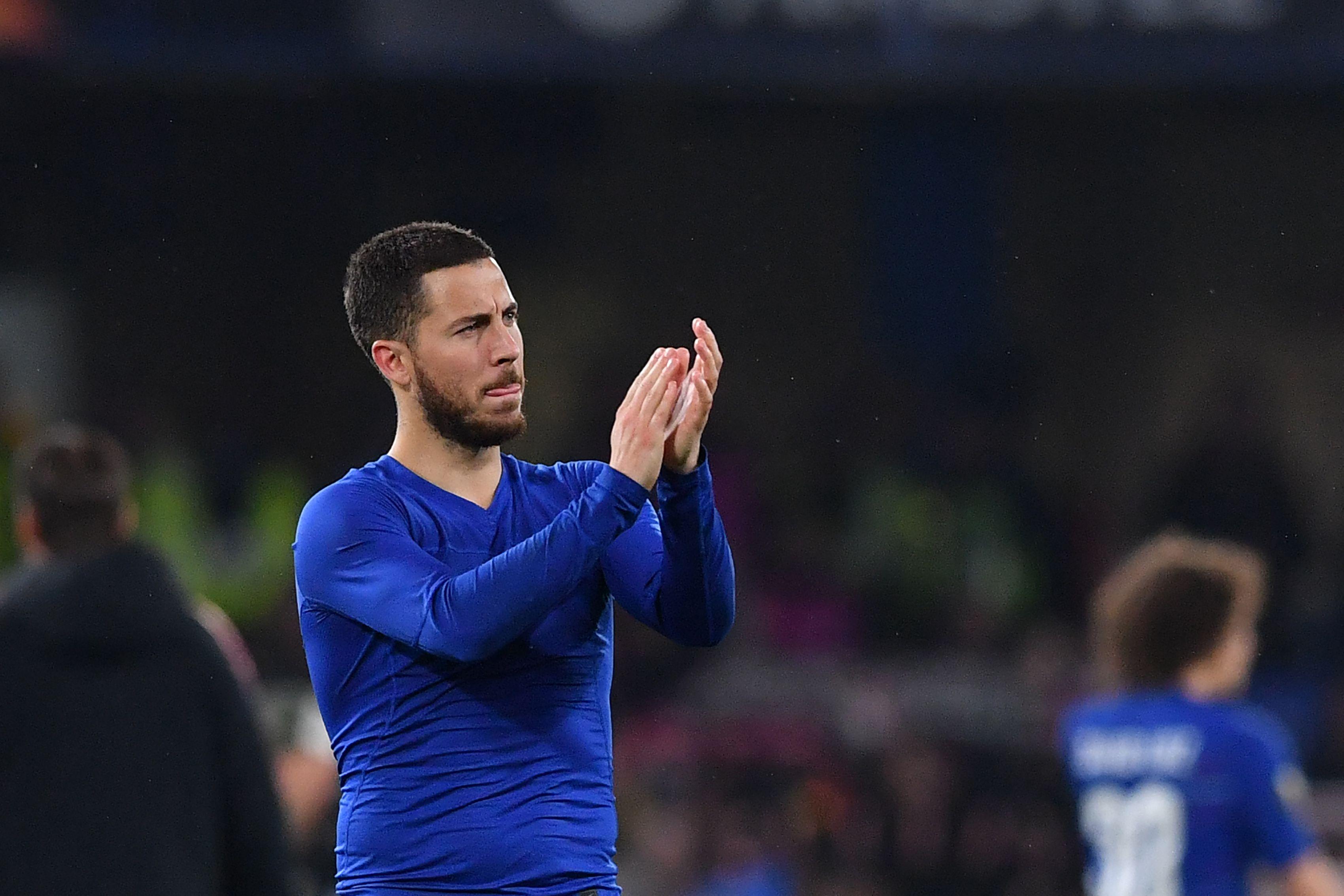El belga Eden Hazard podría haber jugado su último partido de liga con el Chelsea. (Foto Prensa Libre AFP)