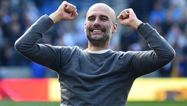 Pep Guardiola conquistó el bicampeonato con el City. (Foto Prensa Libre: AFP)