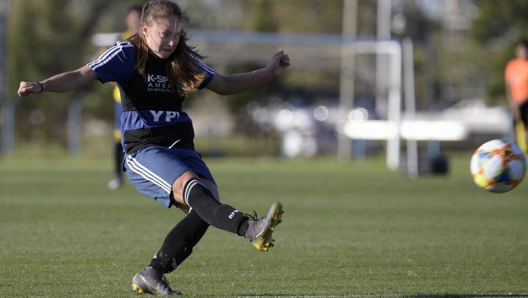 Estefania Banini, jugadora de la Selección de Argentina. (Foto Prensa Libre: AFP)