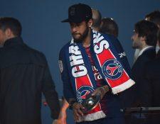 Neymar, jugador del París Saint-Germain. (Foto Prensa Libre: AFP)