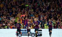 Lionel Messi ha sido muy determinante con el Barcelona, con el que salió campeón de liga. (Foto Prensa Libre: AFP)