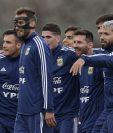 Los jugadores de Argentina, durante la práctica de su selección. (Foto Prensa Libre: AFP)