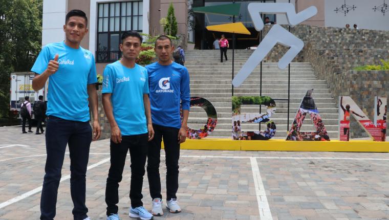 Mario Pacay, Williamas Julajuj y Alberto González serán los representantes de Guatemala en el Medio Maratón. (Foto Prensa Libre: Eduardo Sam Chun)