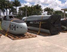 Foto del avión que Guatemala donó. Foto Prensa Libre: Canal 10  de noticias de Miami)