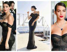 Georgina Rodríguez, novia de Cristiano Ronaldo, brilla en Cannes. (Foto Prensa Libre: Instagram)