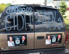 Integrantes del partido Valor piden a la CIDH que otorgue pronto medidas cautelares solicitadas por Zury Ríos. (Foto Prensa Libre: Partido Valor)