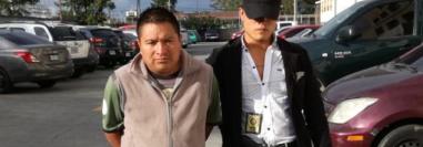 Francisco Raguex Calel al momento de su captura en la zona 7 de la capital en noviembre del 2017, la detención fue por la muerte de su esposa. (Foto Prensa Libre: PNC).