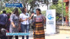 Cabildo Abierto de Prensa Libre y Noticiero Guatevisión se transmitió en directo desde Santa Cruz del Quiché. (Foto Prensa Libre:)