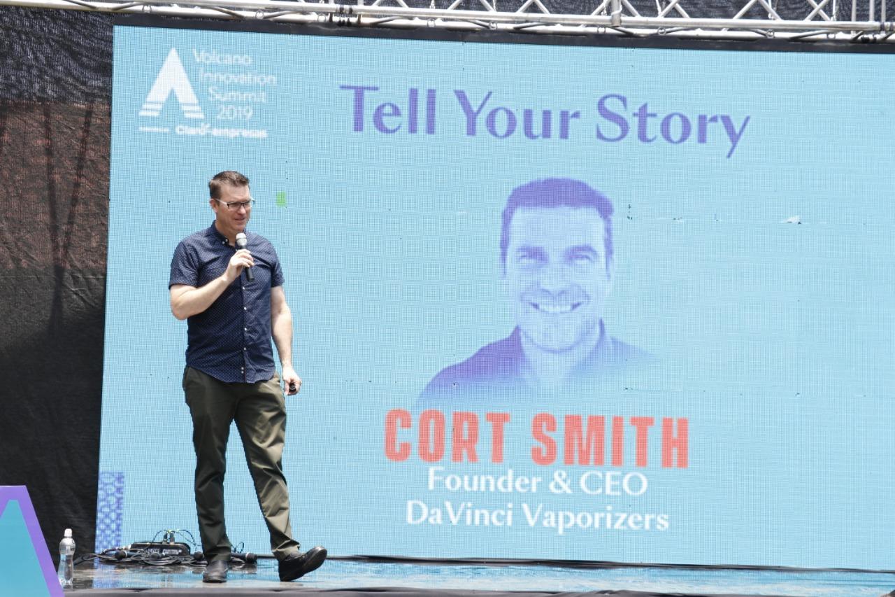 """Cort Smith Ceo de DaVinci Vaporizer conocido como un """"Pensador de soluciones"""" y etiquetado por Forbes como el """"El hombre más interesante en tecnología"""".  (Foto, Prensa Libre: Julio Sicán)."""