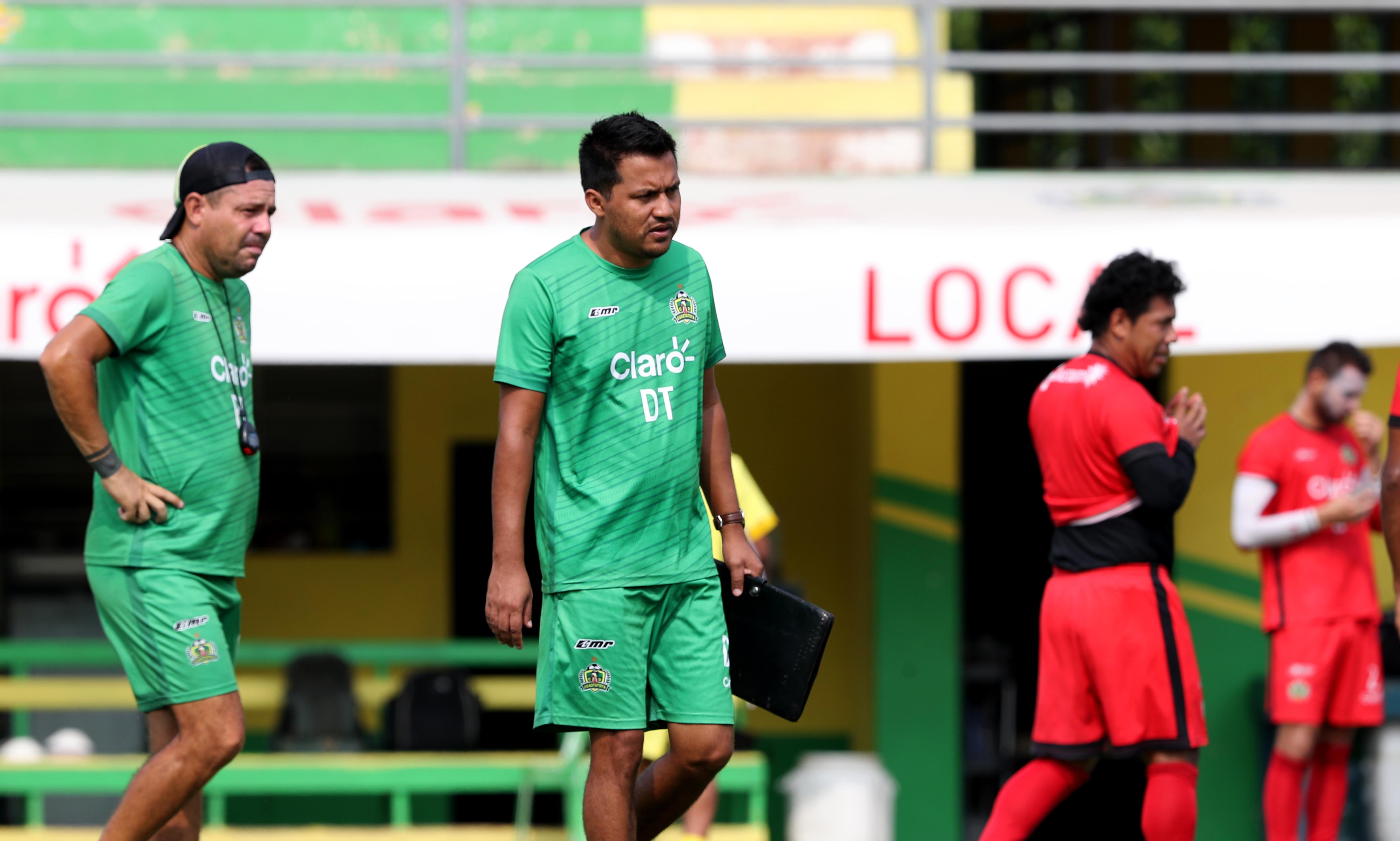 Amarini Villatoro, captado durante el entrenamiento de Guastatoya, efectuado este martes en el David Cordón. (Foto Prensa Libre: Francisco Sánchez).