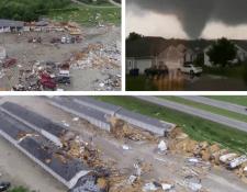 Destrucción, muerte y desolación ha dejado una serie de tornados en el medio oeste de los Estados Unidos. (Foto Prensa Libre: Redes)