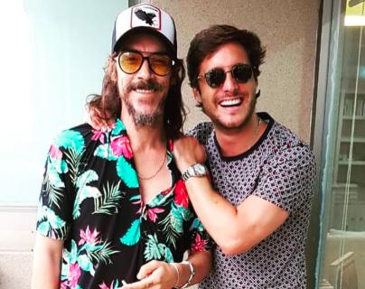 Óscar Jaenada y Diego Boneta, protagonistas de la primera temporada de la serie de Netflix sobre la vida de Luis Miguel. (Foto Prensa Libre: Instagram @diego)