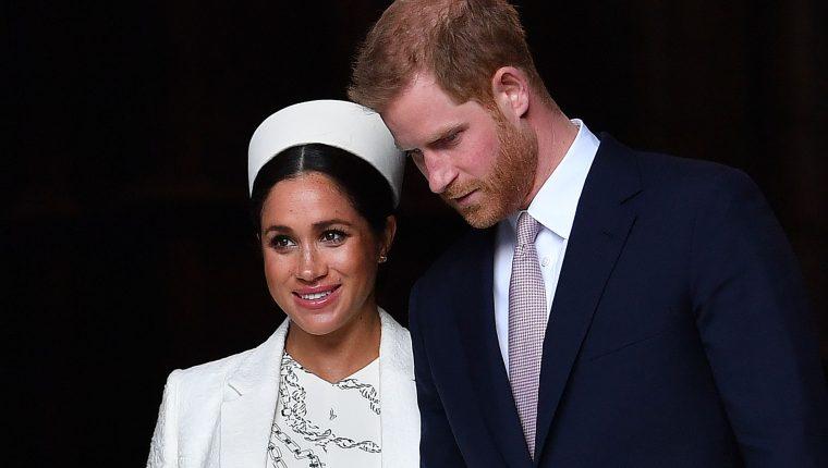 Enrique de Sussex y Meghan Markle serán padres por primera vez. (Foto Prensa Libre: AFP)