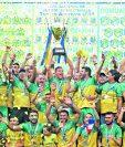 Por ser el campeón de la temporada 2018-2019 mejor ubicado en la tabla acumulada, Guastatoya clasificó de forma directa a los octavos de final de la Liga Concacaf 2019. El próximo jueves conocerá a su rival, en el sorteo que se hará en el país (Foto Prensa Libre: Hemeroteca PL)