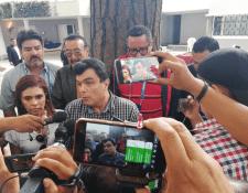 Gerardo Paiz, nuevo presidente de la Fedefut en sus primeras declaraciones a la prensa. (Foto Prensa Libre: Edwin Fajardo)
