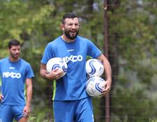 El defensa Hamilton López es el líder de Mixco en busca del ascenso a Liga Nacional. (Foto Prensa Libre: Francisco Sánchez)
