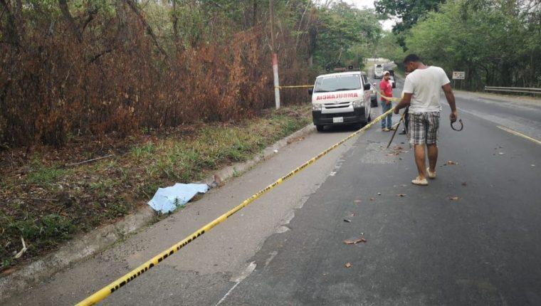 El 2 de mayo pasado a las 17:20 horas fue localizado el cuerpo sin vida de  Hugo Waldemar Melchor Hernández, alias tío Mesho, quien tenía orden de captura con fines de extradición a Costa Rica por cargos de narcotráfico. (Foto Prensa Libre: Cortesía)
