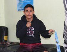 José Ixtacuy viajará este mes a Corea del Sur con la selección de taekwondo para preparar los Juegos Panamericanos. (Foto Prensa Libre: Raúl Juárez)