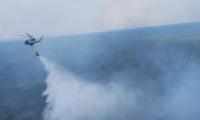 Uno de los incendios forestales registrados en el 2017 en Petén. (Foto Prensa Libre: Hemeroteca PL).
