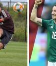 Raúl Jiménez y Andrés Guardado son los pilares de la Selección de México en la convocatoria preliminar para la Copa Oro 2019. (Foto Prensa Libre: Twitter de @Raul_Jimenez9 y @AGuardado18)