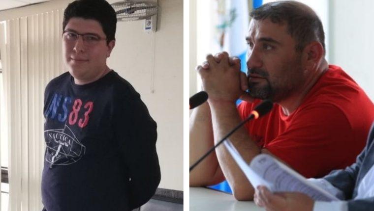 """Julio Enrique José Rosales Morales, alias """"Exxesos"""", -izquierda- y Mario Vicente Cordón Cabrera, """"Batman"""", son señalados de narcotráfico. (Foto Prensa Libre)"""