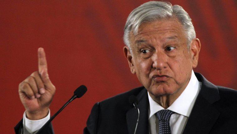 Manuel López Obrador le advirtió a Trump de que no quiere confrontación. (Foto Prensa Libre: EFE)