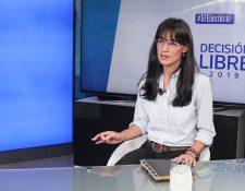 Lucrecia Hernández Mack, candidata a diputada por el partido Semilla. (Foto Prensa Libre: Juan Diego González)
