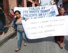 Cada día los manifestantes caminarán 30 kilómetros. (Foto Prensa Libre: María Longo)