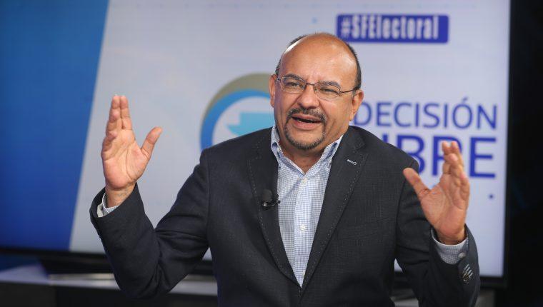 Manfredo Marroquín, candidato presidencial de Encuentro por Guatemala, en Sin Filtro Electoral. (Foto Prensa Libre: Érick Ávila)