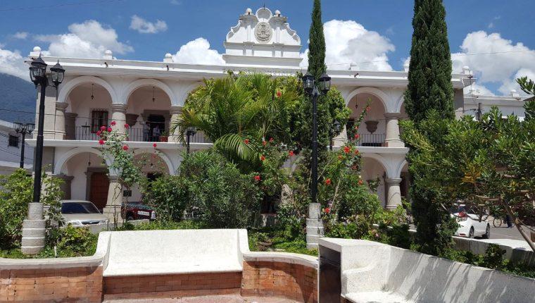 El MP investiga un caso de corrupción en la municipalidad de San Miguel Dueñas, Sacatepéquez. (Foto Prensa Libre: Julio Sicán)