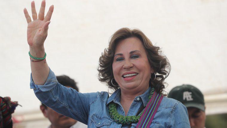 La candidata presidencial por la UNE, Sandra Torres, promovió acciones contra editores de elPeriódico. (Foto Prensa Libre: Hemeroteca PL)