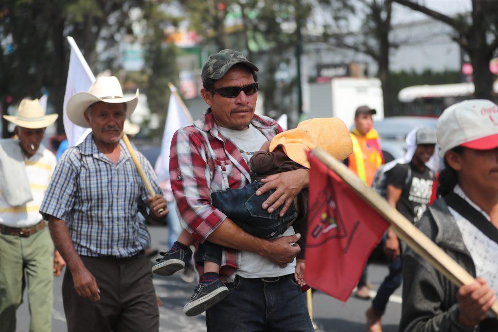 La marcha salió el 1 de mayo de la ciudad de Quetzaltenango.
