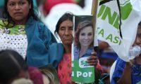Partido Unidad Nacional de la Esperanza (UNE) lleva acabo un Mitin electoral  en el municipio de Tactic, Alta Verapaz.  Donde se hizo presente la candidata a la presidencia Sandra Torres.                                                                                             Fotograf'a Esbin Garcia 11-05- 2019.