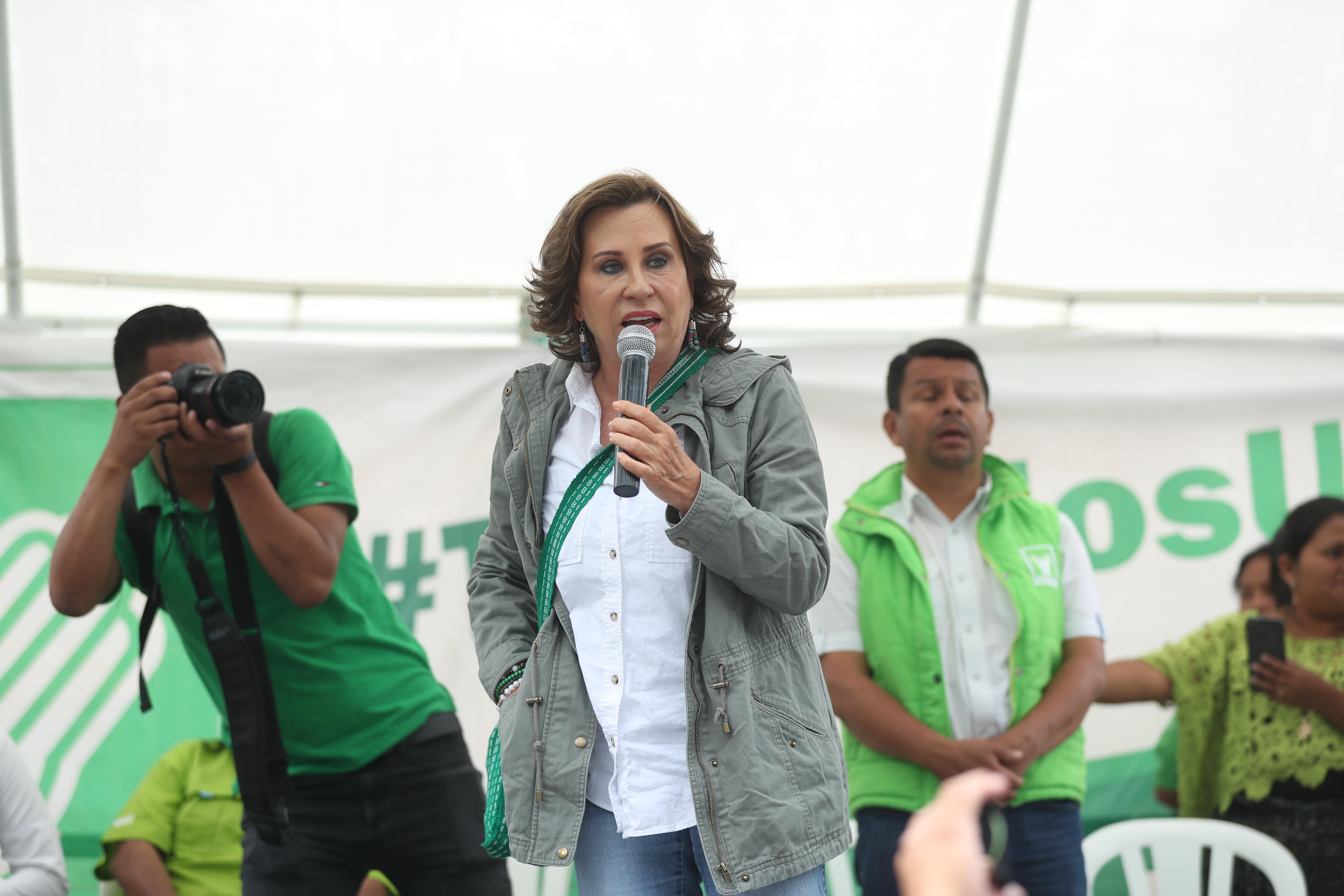 Sandra Torres, aspirante a la presidencia por la UNE. (Foto Prensa Libre: Hemeroteca PL)                                                                                           Fotograf'a Esbin Garcia 11-05- 2019.