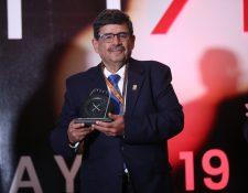Roberto Zaid Zaid , empresario del grupo Imperial recibió un reconomiento por su trayectoria durante el Apparel Sourcing Show 2019.  (Foto Prensa Libre: Esbin García)