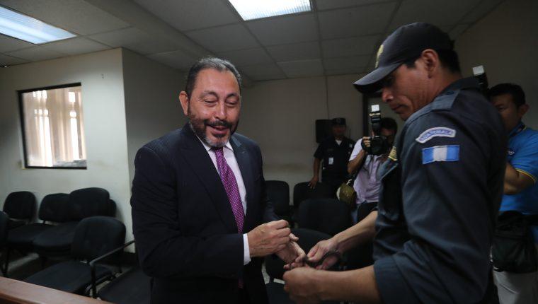 Héctor Mauricio López Bonilla, exministro de Gobernación, fue condenado a 13 años y 9 meses de prisión en la fase dos del caso Patrullas. (Foto Prensa Libre: Érick Ávila)