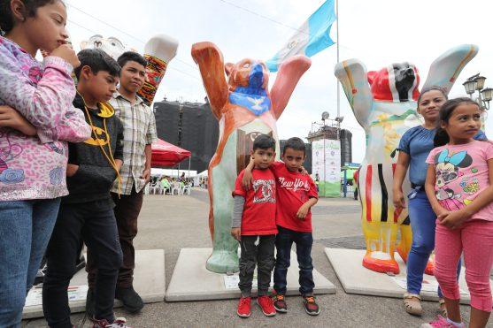 Le exposición fue abierta al público este sábado. Foto Prensa Libre: Óscar Rivas