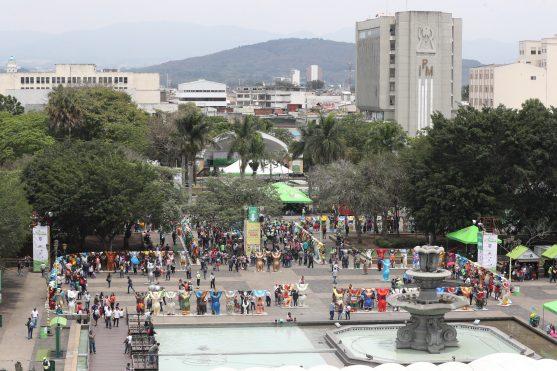 Así están distribuidos los osos y en la parte de atrás de la exposición hay un museo. Foto Prensa Libre: Óscar Rivas