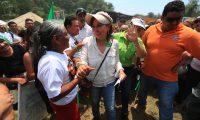 Sandra Torres durante su mitin pol'tico en Santo Tom‡s de Castilla en Puerto Barrios Izabal.  foto por Carlos Hern‡ndez Ovalle 19/05/2019