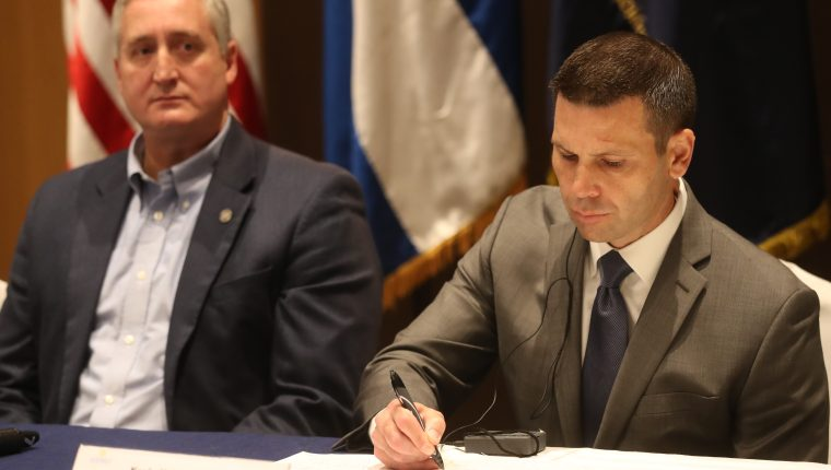 Kevin McAleenan, secretario de Seguridad Nacional de EE. UU.  Se reœne con ministros de Gobernaci—n  del Tri‡ngulo Norte para combatir el narcotr‡fico y la trata de personas que buscan llegar a EE.UU.        Fotograf'a Esbin Garc'a 28-05-2019