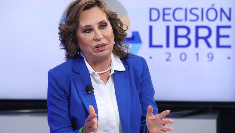 Sandra Torres, candidata a la presidenta por el Partido Unidad Nacional de la Esperanza (UNE) participó en Sin Filtro Electoral. (Foto Prensa Libre: Esbin García)